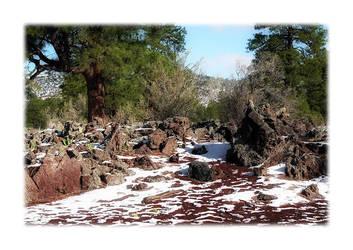 Lava Flow Snow by Vividlight