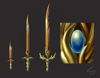 Sword Concepts 2: Evolution Series by skdiesel