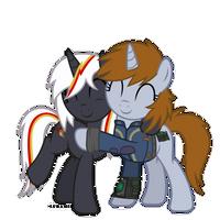 Friendly hug by Suramii