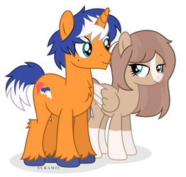 Sweet Point and Lovebird [Art Trade] by Suramii