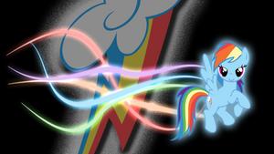 RainbowDash Glow wallpaper by GuruGrendo