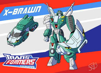 Transformers Animated X-Brawn by Gryphman