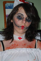 Me being a zombie nurse by ClumsyLittleFreak