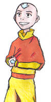 Silly Aang by Aureawolf