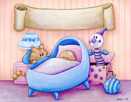 Baby Announcement Design by spiraln