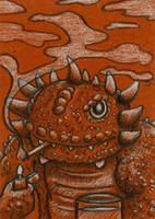 Smokin' Lizard Dude by spiraln
