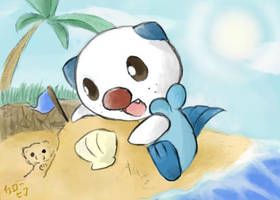 Oshawott by yellowhima