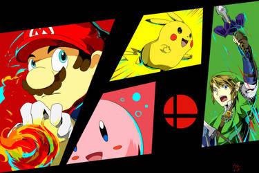Super Smash Bros by yellowhima