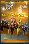 LlamaLAN 10 Poster by recurring
