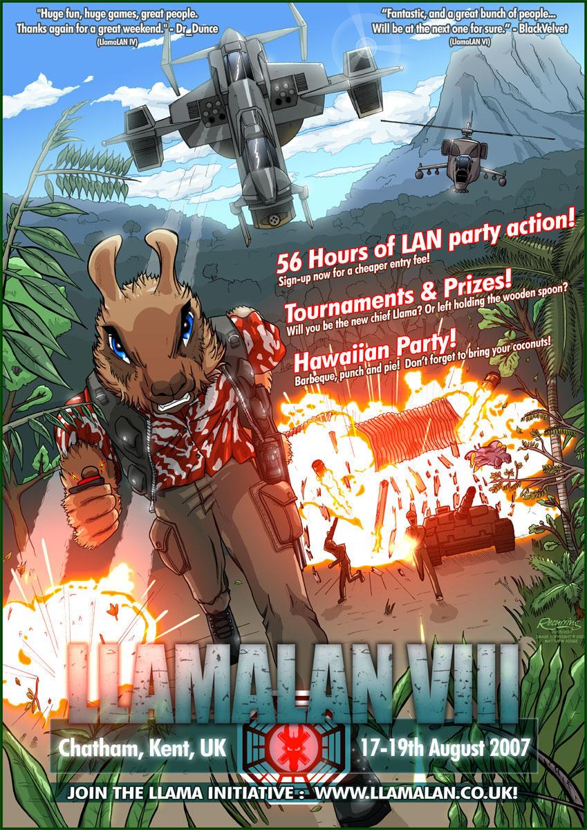 LlamaLAN VIII Poster by recurring