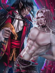 Dracula x Alucard :nsfw optional: by Emerald--Weapon