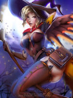Halloween Mercy :nsfw optional: by Emerald--Weapon