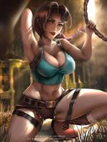 Oldschool Lara :nsfw optional: by Emerald--Weapon