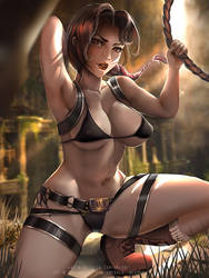 Lara Croft Bikini ver :nasw optional: by Emerald--Weapon