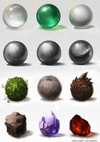 Materials study by jackfrozz