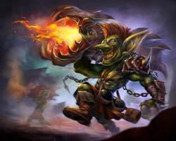 Goblin Cannoneer by jackfrozz