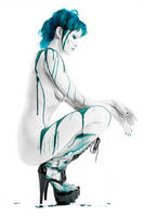 Blue Drip. Full Body. by Ryo-Says-Meow