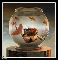 Goldfish Mermaid. by Ryo-Says-Meow