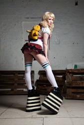 giant school girl by Ryo-Says-Meow
