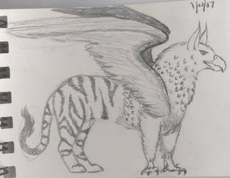 NightGryphon - Sketch by SunGryphon