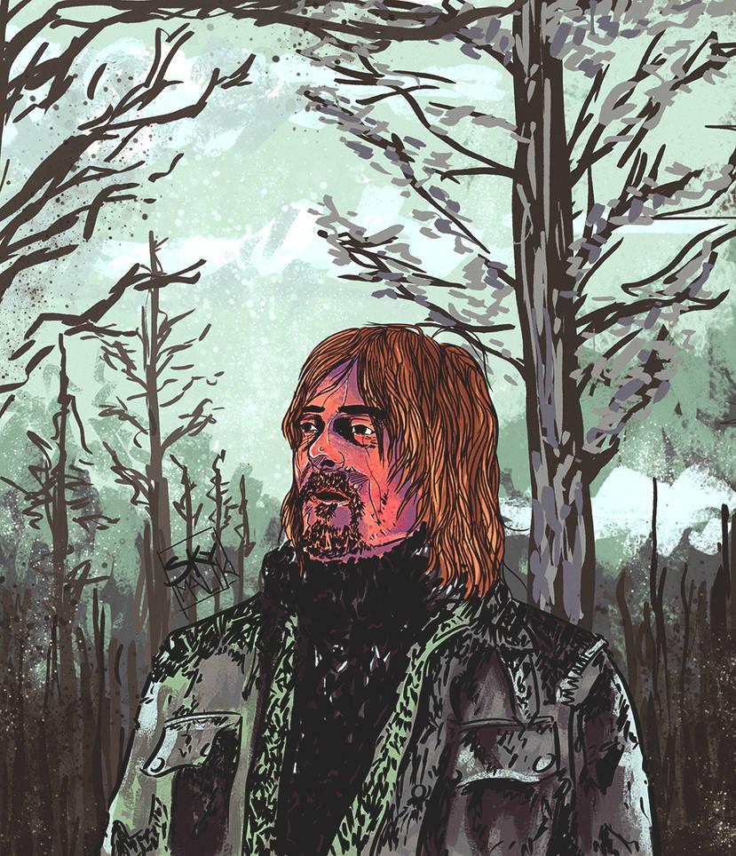 Norman Reedus Comic Artwork by Mkemaster