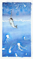 The Narwhal and the Stars I by squiglemonster