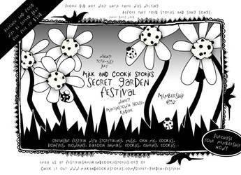 M 'n C Secret Garden Festival Flyer by squiglemonster