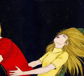 GTO: Kanzaki with Onizuka by Polixena13