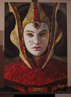 Queen Amidala - acrylic paint by Byzwa-Dher