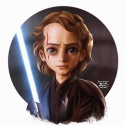 Anakin stylized by Byzwa-Dher