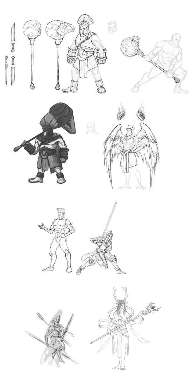 Character Design Dump by Kafuta