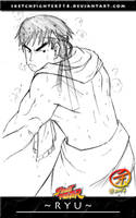 Sketch Fighter: Ryu by Sketchfighter316