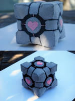 Companion cube plush by OzAngel