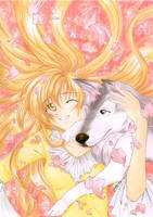 Dog and Girl. Friends foreva by elpheal
