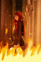 Flaming dawn by elpheal