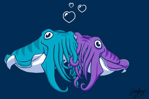 Cuddlefish by Emchromatic