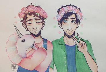 Pastel Dan and Phil by Aryanel