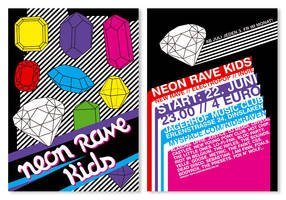 Neon Rave Kids Flyer I by rockst3ady