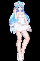 .:TDA HatsuneMiku Sakura White dress update DL:. by MMDVocaloidThailand