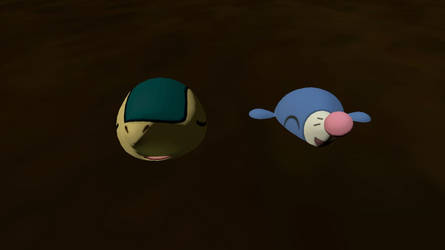 Cyndaquil and Popplio in Quicksand (Request) by CosmicRay25