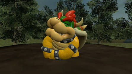 Bowser stuck in the mud (Request) by CosmicRay25