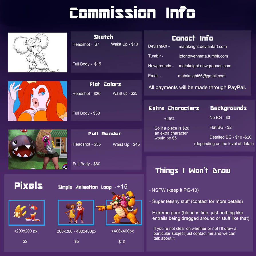 Commission Info increase v2 by Mataknight