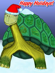 A Christmas Turtle by supaspoida