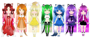 #19 ADOPTABLES [OPEN 1/7] ::Rainbow:: by Star-Kaito