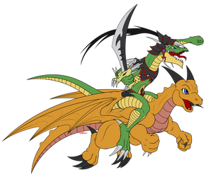 CM: Alligator Sword Dragon. by Razor-Zyrak