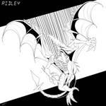 CM: Inktober Day 14 - Ridley. by Razor-Zyrak