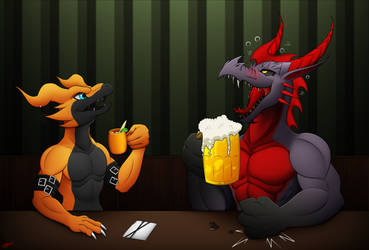 CM: Night at the bar. by Razor-Zyrak