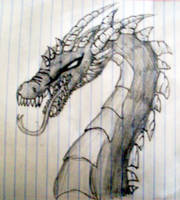 Dragon Sketch by metaknightepicness12