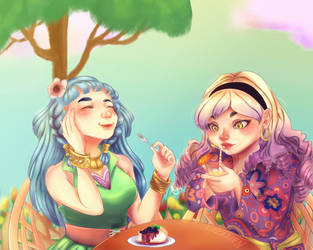 Iris and Dahlia (Fanart Contest) by narcyzus