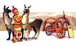 Commission: Inca AU by lackofa